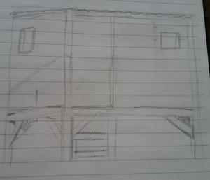 Sketch of Backyard Fort