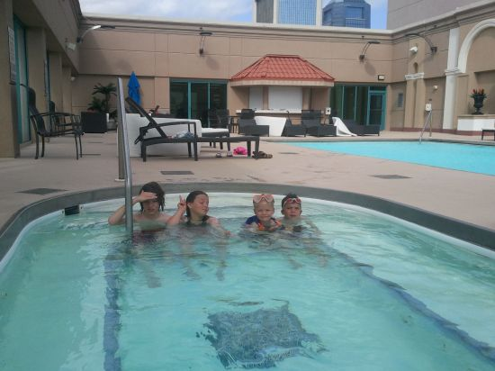 Hotel pool in Jacksonville, FL