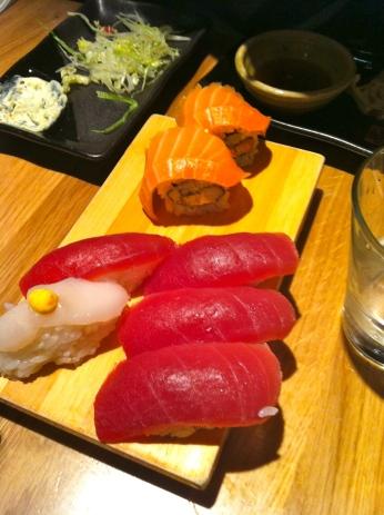 Yummy tuna and cute little scallops