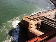 Structure under the Golden Gate Bridge