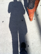 Shadows and fancy boots