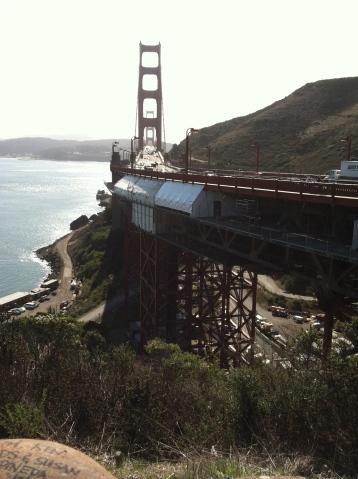 Construction under the bridge