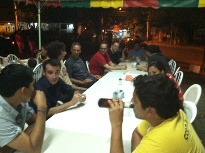 Volunteer dinner at Fritanga