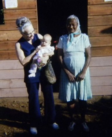 With Grandma and someone I don't know