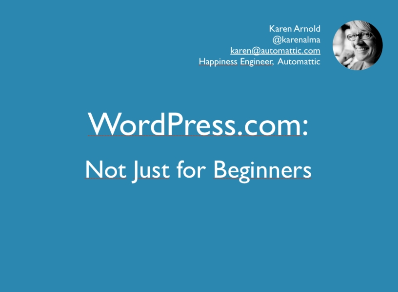 WP Not Just for Beginners