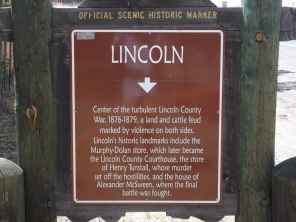 The site of the Lincoln County War