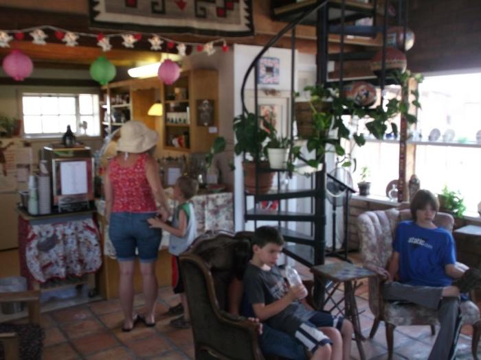 Inside Annie's shop