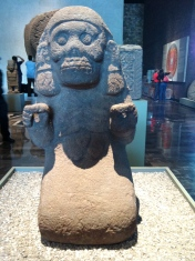 More goddess of the underworld. Apparently, Aztecs deified women who died in childbirth.