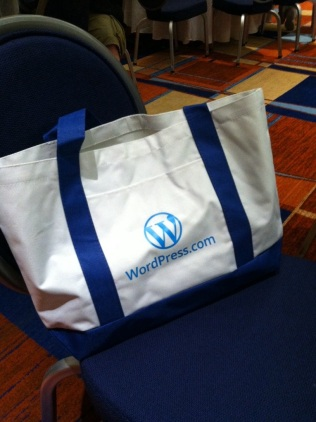 WordPress.com were the bag sponsors
