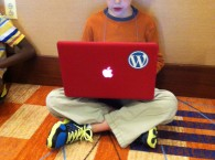 No, this is not the child of an Automattician. But this kid loves WordPress.