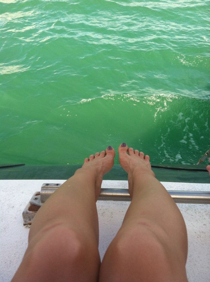 Toes over the Atlantic