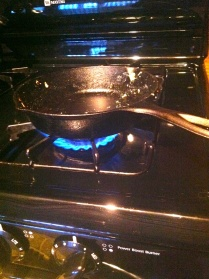 I love my adorable little cast iron skillet.