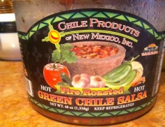 My favorite. It's called green chile salsa, but it's red. So it counts for Christmas in my book
