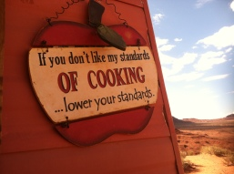If you don't like my standards of cooking, lower your standards.