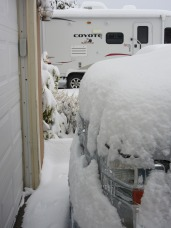 So you get the idea how much snow is piled up.