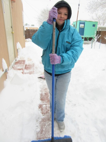 Who needs a shovel when you have a broom?