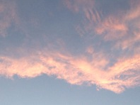 Clouds above the sunset
