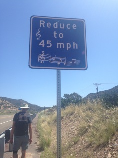 Musical Highway sign