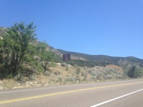 Spotting the highway sign for Tijeras, almost there!
