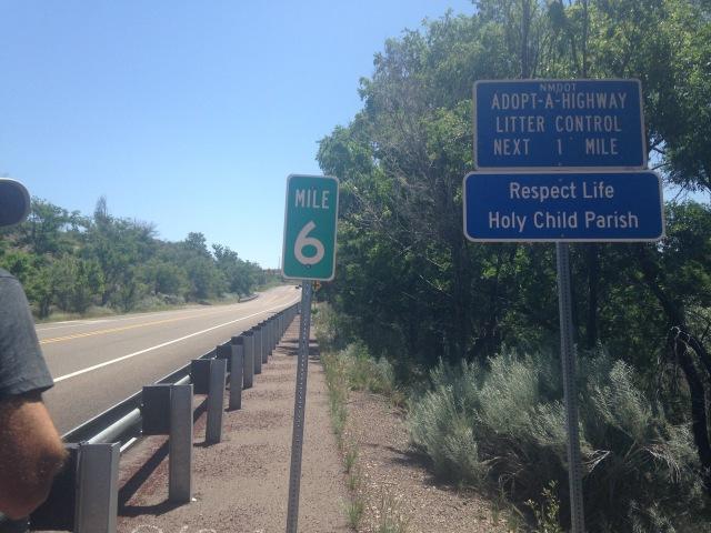 Mile 6 marker