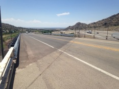 First view of ABQ through the hills