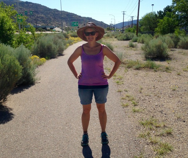 Karen, at the beginning of the trail